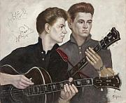 Signature Originals - Signed by The Everly Brothers by Adrian van Loon