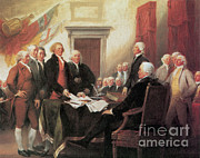 July 4th 1776 Posters - Signing Of The Declaration Poster by Photo Researchers