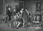 Negotiating Posters - Signing Treaty Of Peace, 1782 Poster by Photo Researchers