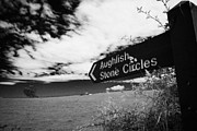 Signpost Prints - signpost for Aughlish stone circles county derry londonderry northern ireland Print by Joe Fox
