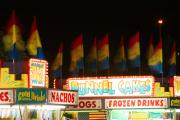 Lightning Decorations Photo Prints - Signs of Food At the Carnival Print by James Bo Insogna