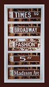 5th Ave Prints - Signs Of New York Print by Rob Hans