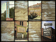 Digital Collage Photo Posters - Signs of Salida Poster by Ann Powell