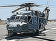 Samuel Sheats Posters - Sikorsky UH-60 Blackhawk Helicopter Poster by Samuel Sheats