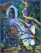 Bell Tower Paintings - Silence at St. Michel Chapel in Capri Italy by Mindy Newman