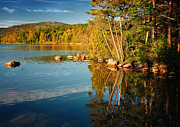 Golden Pond Prints - Silence is Golden - Eagle Lake at Sunrise Print by Thomas Schoeller