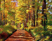 Fall Colors Paintings - Silence is Golden by David Lloyd Glover