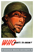Ww2 Mixed Media Posters - Silence Means Security Poster by War Is Hell Store