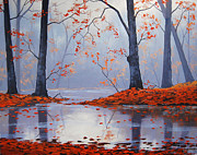 Fall Trees Posters - Silent Autumn Poster by Graham Gercken