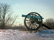 Antietam Framed Prints - Silent Cannon in Winter Framed Print by Judi Quelland