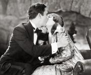 Unidentified Framed Prints - Silent Film Still: Kissing Framed Print by Granger