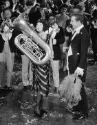 Tuba Prints - Silent Film Still: Music Print by Granger