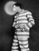 Criminal Framed Prints - Silent Film Still: Prison Framed Print by Granger