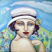 Artdeco Paintings - Silent Moment 2 by Coco DE JARDIN
