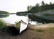 Canoe Art - Silent Retreat by Kenneth M  Kirsch