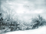 Snowfall Digital Art - Silent Snow by Jessica Jenney