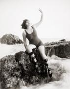 Reynolds Photo Metal Prints - Silent Still: Bather Metal Print by Granger