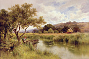 Hayrick Paintings - Silent Stream by Henry Parker
