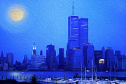 Wtc Center Digital Art Metal Prints - Silent Summer Metal Print by Maggie Magee Molino