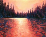 Sun Rays Painting Prints - Silent Treasures Print by Lucy West
