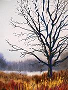 Winter-landscape Pastels - Silent Yet Strong by Christine Kane