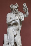Satyrs Posters - Silenus, Roman God Of Wine Poster by Sheila Terry