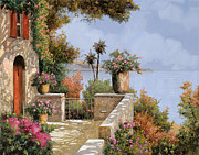 Red Art Prints - Silenzio Print by Guido Borelli