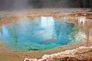 Decor Prints - Silex Spring Fountain Paint Pot Yellowstone National Park WY Print by Christine Till
