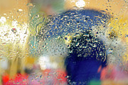 Glass Beads Prints - Silhouette in the Rain Print by Carlos Caetano