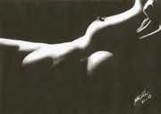 Nudes Drawings Originals - Silhouette by Maciel Cantelmo