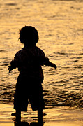 Silhouette Of A Child 1 Print by Carole Lloyd