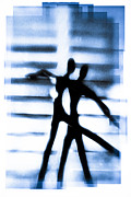 Dancers Acrylic Prints - Silhouette Of Dancers Acrylic Print by David Ridley