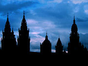 Spire Photo Posters - Silhouette of Spanish church Poster by Jasna Buncic
