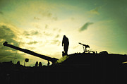 Army Tank Framed Prints - Silhouette of War  Framed Print by Stefano Senise