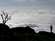 Silhouette Photographer With Group Of Clouds And Fogs Print by Nawarat Namphon