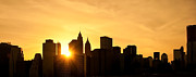 Textures Photo Originals - Silhouetted Manhattan  by Svetlana Sewell