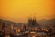 Barcelona Prints - Silhouettes In Barcelona Print by Paul Biris
