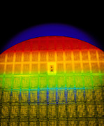Integrated Prints - Silicon Chip Wafer Print by David Parker