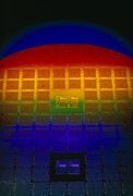 Integrated Prints - Silicon Sunrise, A Logic Array Circuit Wafer Print by David Parker