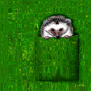 Kim Niles Digital Art - Silk Shirt Pocket Hedgie by Kim Niles