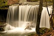 Ghostly Prints - Silken Waterfall Print by Douglas Barnett