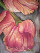 Silky Tulips Print by Husna Rafath