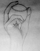 Sports Drawing Drawings - silly boys Baseball is for girls by Michael Knight