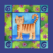 Corwin Paintings - Sillycat by Pamela  Corwin