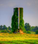 Landscape Related Tags:  Sunset Artwork Prints - Silo Print by Robert Pearson