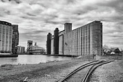 Train Tracks Photo Originals - Silos 15220 by Guy Whiteley