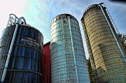 Silos Metal Prints - Silos Metal Print by Paul Ward