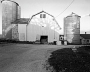 Round Barn Posters - Silos Split by Barn Poster by Jan Faul