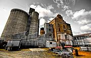 Silos Framed Prints - Silos Framed Print by Wayne Sherriff