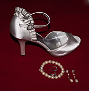 Engagement Prints - Silve Slipper and Pearls 1 Print by Douglas Barnett